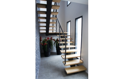 Лестница на центральном ступенчатом косоуре