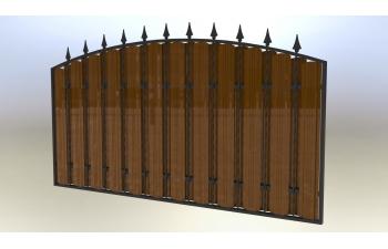 Забор металлоштакет